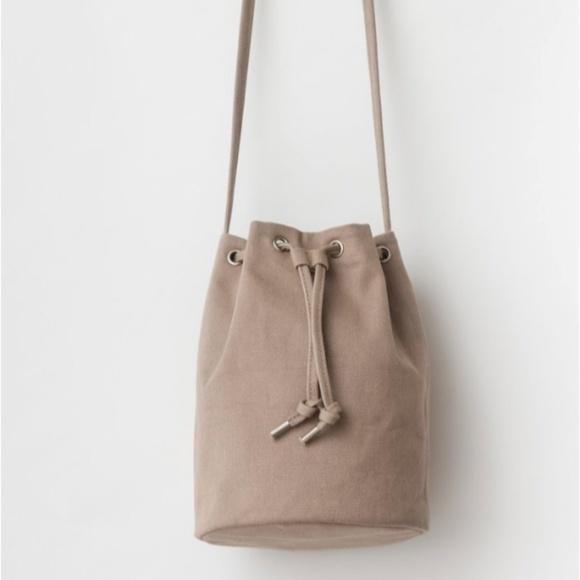 b01db44de BAGGU Bags | Canvas Drawstring Purse Mushroom Nwt | Poshmark